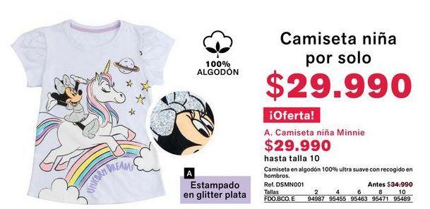 Oferta de Camiseta niña por $29990