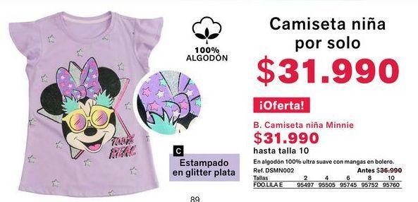 Oferta de Camiseta niña por $31990