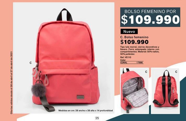 Oferta de Bolso femenino  por $109990
