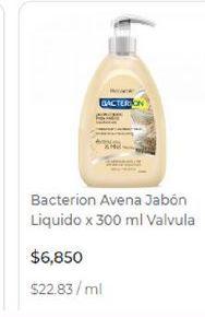 Oferta de Jabón líquido Bacterion por $6850