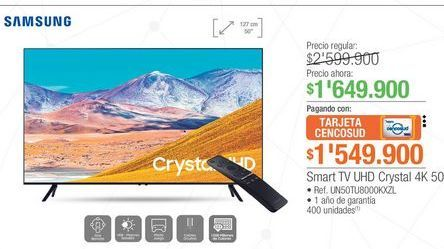 Oferta de Smart tv led 50'' Samsung por $1649900