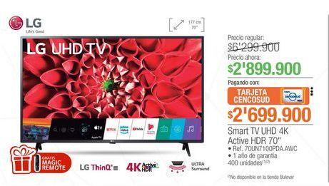 Oferta de Smart tv led LG por $2899900