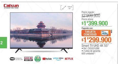 Oferta de Smart tv led 55'' por $1399900