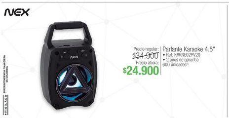 Oferta de Parlantes Nex por $24900