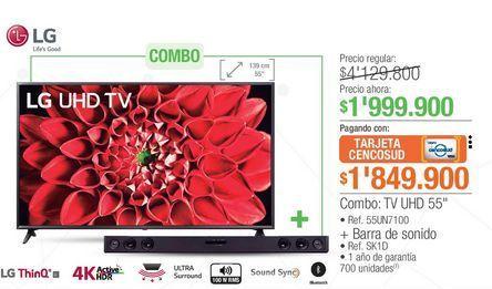 Oferta de Tv led 55'' LG por $1999900