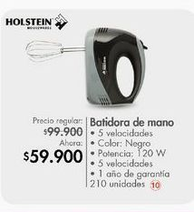 Oferta de Batidora de mano Holstein por $59900
