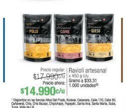 Oferta de Ravioli artesanal 450g por $14990