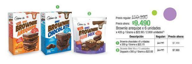 Oferta de Brownie arequipe x 6 unidades 420g por $9490