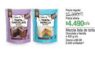Oferta de Mezcla lista de torta 450g por $4490