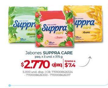 Oferta de Jabones SUPPRA CARE paq. x 3und 375g por $2770