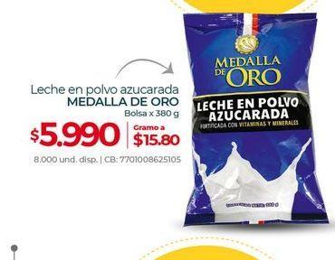 Oferta de Leche en polvo azucarada MEDALLA DE ORO bolsa x 380g por $5990