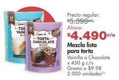 Oferta de Preparado para pasteles Cuisine & Co por $4490