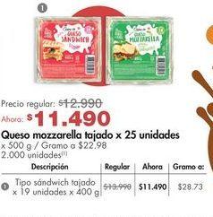 Oferta de Mozzarella Cuisine & Co por $11490