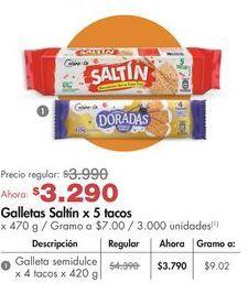 Oferta de Galletas saladas Cuisine & Co por $3290