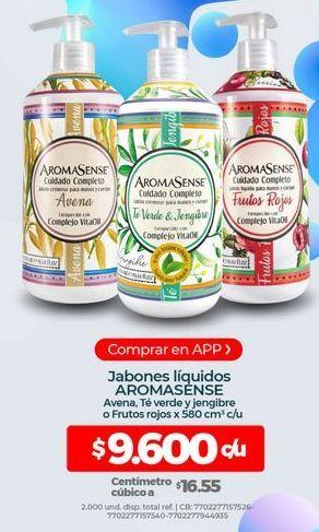 Oferta de Jabón líquido Aromasense por $9600