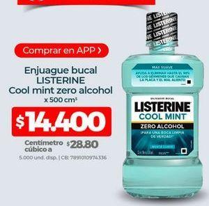 Oferta de Enjuague bucal Listerine por $14400