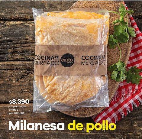 Oferta de Milanesas de pollo Éxito por $8390