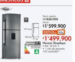 Oferta de Nevera Haceb 404L  por $1599900
