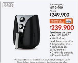 Oferta de Freidora Black & Decker 2.6l por $249900