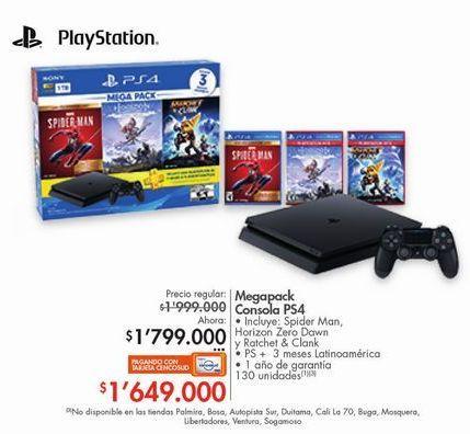 Oferta de Megapack consola ps4  por $1799000