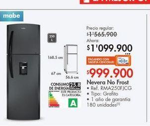 Oferta de Nevera Mabe 250l  por $1099900