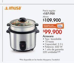 Oferta de Arrocera Imusa 2.3l  por $109900