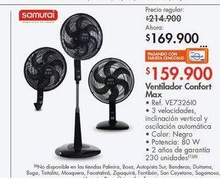 Oferta de Ventilador confort max  por $169900