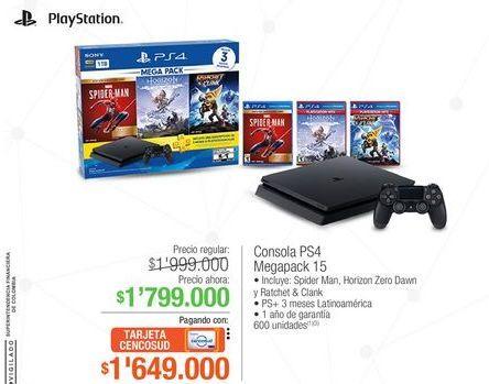 Oferta de Consola ps4 megapack 15 por $1799000