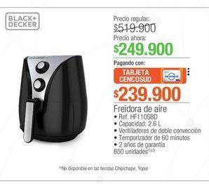 Oferta de Freidora de aire Black and Decker 2.6L  por $249900