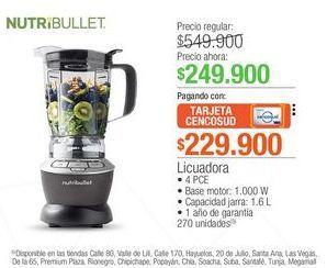 Oferta de Licuadora Nutribullet  por $249900