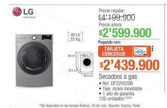 Oferta de Lavadora LG 22kg  por $2599900