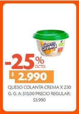 Oferta de Queso crema Colanta 230g  por $2990