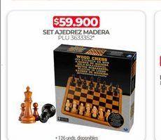 Oferta de Set ajedrez madera por $59900