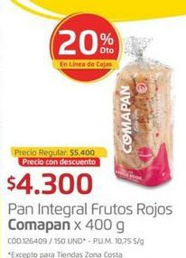 Oferta de Pan integral Comapan por $4300