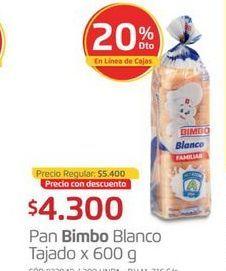Oferta de Pan tajado Bimbo por $4300