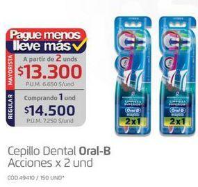 Oferta de Cepillo dental Oral B por $14500