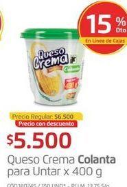 Oferta de Queso crema Colanta por $5500