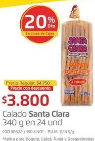 Oferta de Panadería Santa Clara por $3800