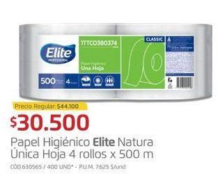 Oferta de Papel higiénico Elite por $30500