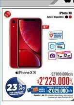Oferta de IPhone XR por $2229000