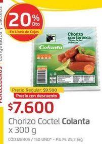 Oferta de Chorizo Colanta por $7600