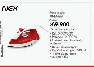 Oferta de Plancha de vapor Nex por $69900