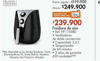 Oferta de Freidora de aire Black & Decker 2.6L por $249900