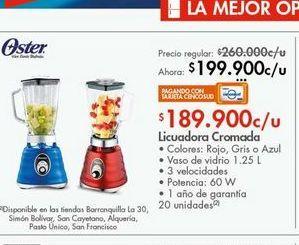 Oferta de Licuadora cromada  Oster por $199900