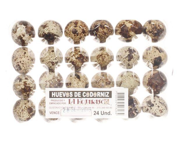 Oferta de Huevos de Codorniz 24 Und por $3650