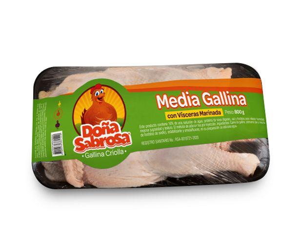 Oferta de Media Gallina con Víscera 800 g por $8600