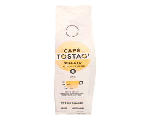 Oferta de Café Tostado y Molido Tostao 500 g por $9350