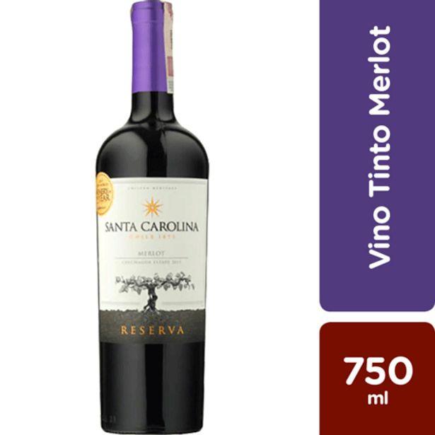 Oferta de Vino Tinto Santa Carolina Merlot x 750 ml por $40500