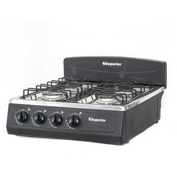 Oferta de Cocineta Superior Negra 4 Puestos Gas Natural   SN-7053-08 por $170000