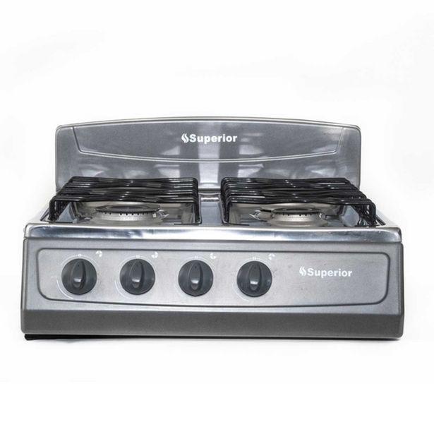 Oferta de Cocineta Superior Gris 4 Puestos Gas Propano   SN-7053-07 por $170000